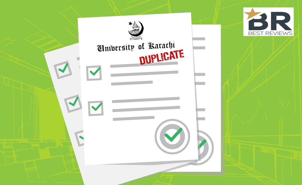 How To Get Duplicate Marksheet From Karachi University