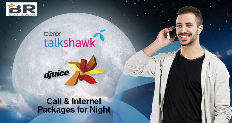Telenor Talkshawk Djuice Night Call Packages & Internet Package